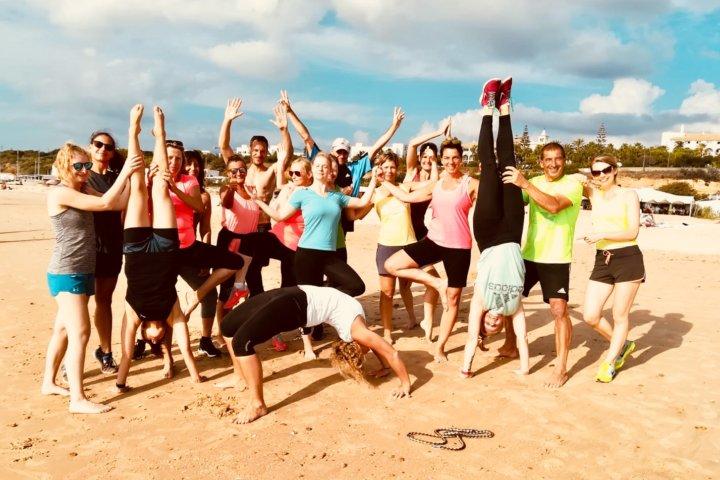 Abschlussfoto nach der Teamcompetition am Strand von Conil