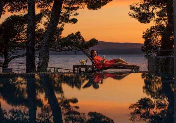 Sunset in Kroatien