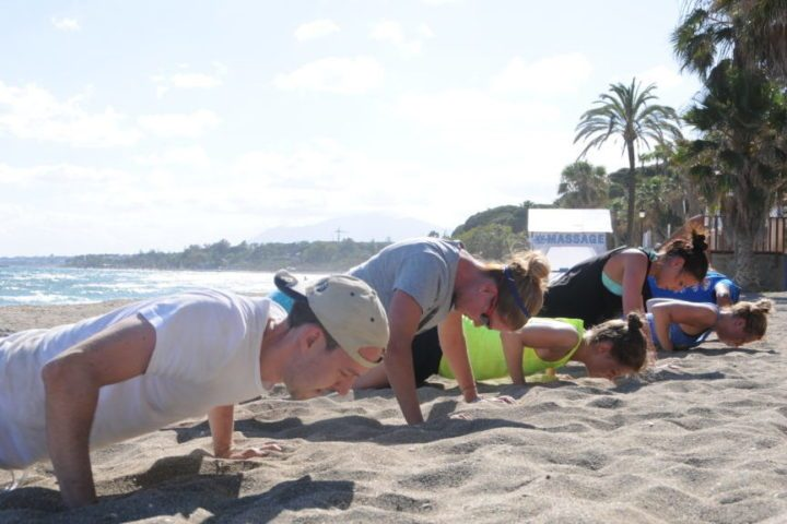 Team Freeletics am Beach von Marbella