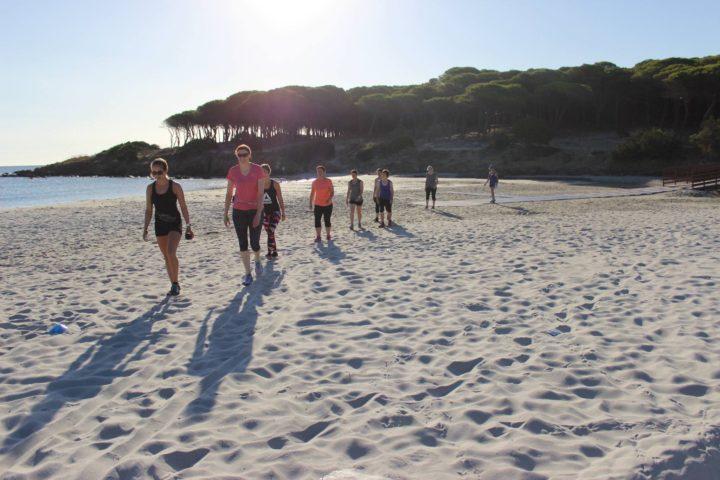 Budoni's Strand weitläufig und  super sauber