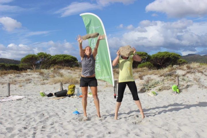 Zirkeltraining am Strand