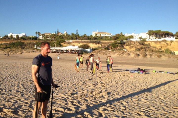 HIT Training am Beach von Conil