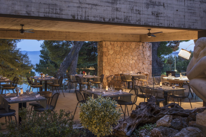 Am Abend im Restaurant De Luca - Hotel Bluesun Solline