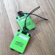 grüne Kofferanhänger für jede Reise nach Marbella, Mallorca und Teneriffa