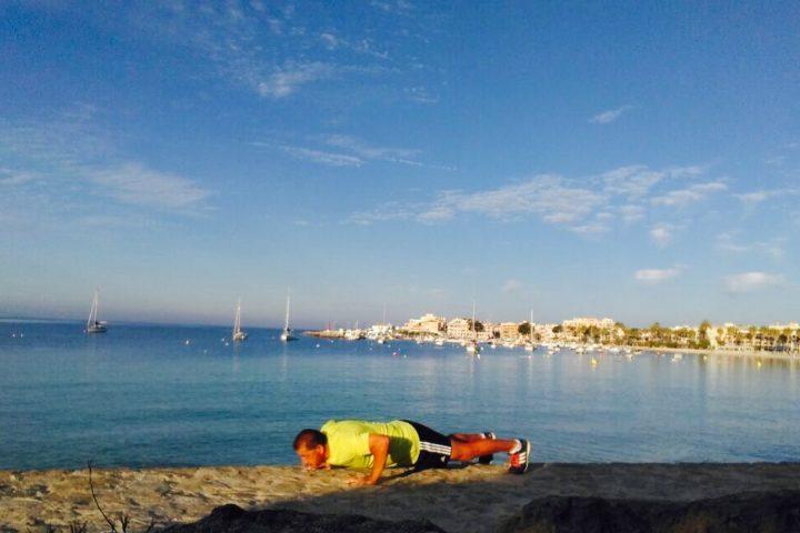 Ralf am Strand von Colonia Sant Jordi