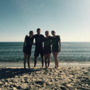 Das Trainerteam am Strand von Budoni auf Sardinien