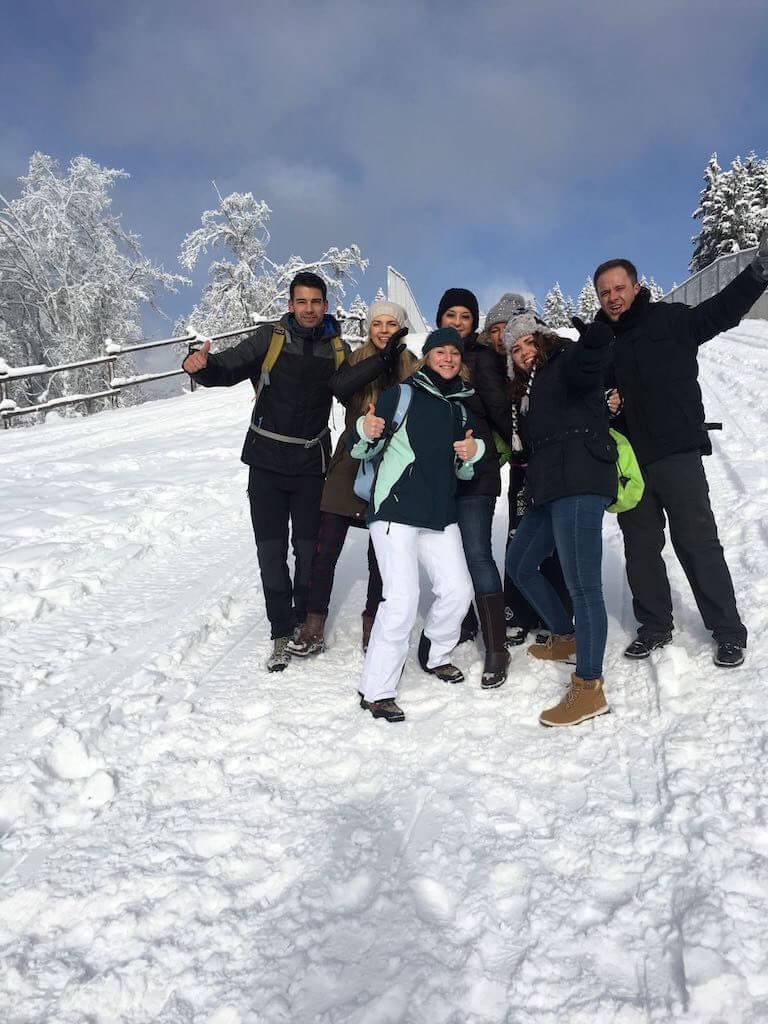 Schnee in Winterberg (Kahler Asten Wanderung - Nov 2016)