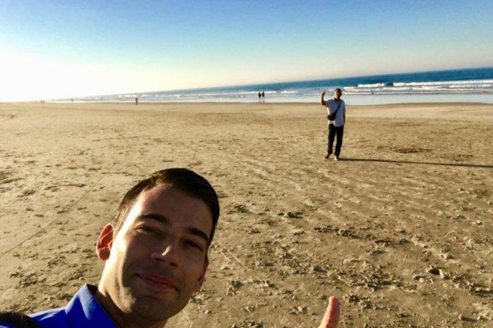 Ralf und Dominic schauen sich nochmal den Strand in Conil an;)