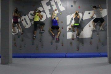 Klettern beim Crossfit. Nur mit mimind :-) und auf der Aktivreise auf Teneriffa