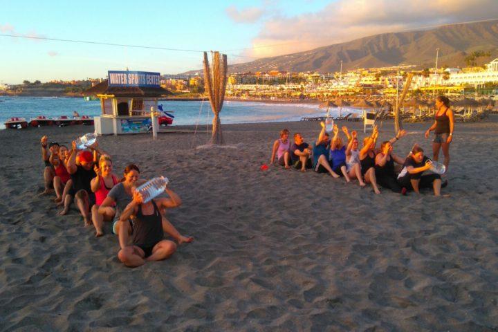 Gruppen Challenge am Strand