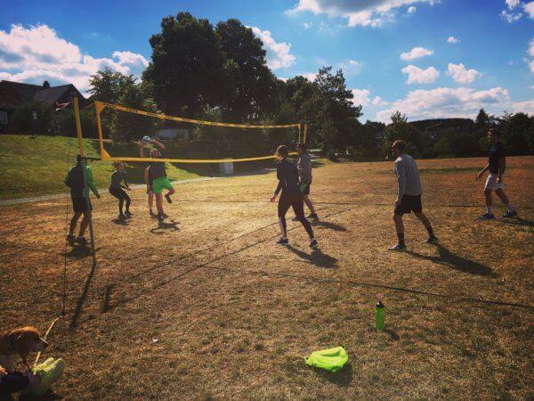 Sportwoche mit mimind - auch Volleyball wurde angeboten