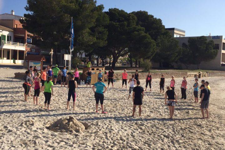 Sporteinheiten am Strand
