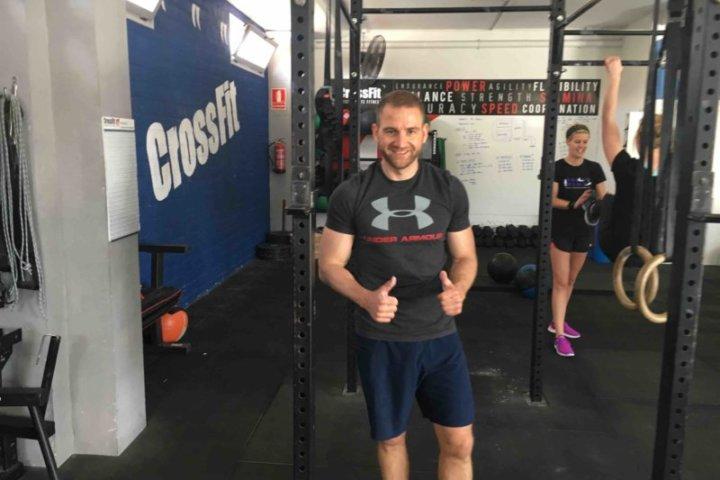 David beim CrossFit
