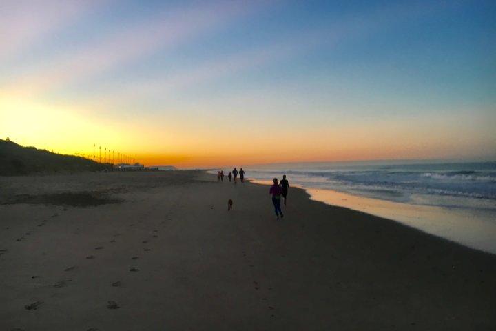 Good Morning Jogging am Atlantik