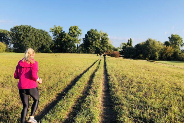 Laufeinheit am Rhein