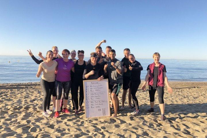Fitnessreise Marbella - Strandtraining