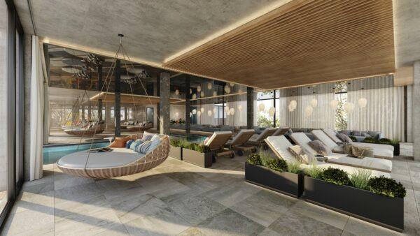 Umbauten Hotel Berghof Visualisierung Sauna