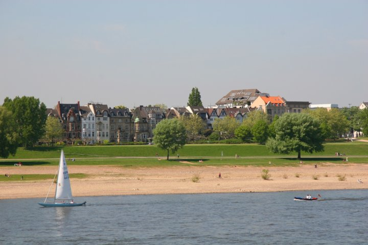 Blick auf Düsseldorf Oberkassel