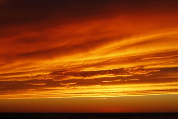 traumhafter Sonnenuntergang in Andalusien
